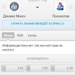 Прогноз на матч Динамо Минск-Локомотив 25.02.2017