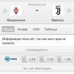 Прогноз на матч Фиорентина-Ювентус 09.02.2018
