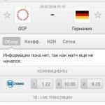 Прогноз на матч Россия-Германия 25.02.2018