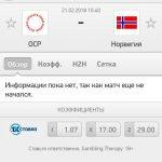 Прогноз на матч Россия-Норвегия 21.02.2018
