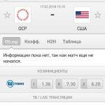 Прогноз на матч Россия-США 17.02.2018