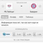 Прогноз на матч РБ Лейпциг-Бавария 18.03.2018