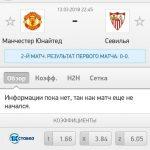 Прогноз на матч Манчестер Юнайтед-Севилья 13.03.2018