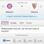 Прогноз на матч Бавария-Севилья 11.04.2018
