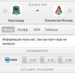 Прогноз на матч Краснодар-Локомотив 30.04.2018
