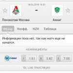 Прогноз на матч Локомотив-Ахмат 18.04.2018