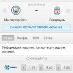 Прогноз на матч Манчестер Сити-Ливерпуль 10.04.2018