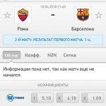 Прогноз на матч Рома-Барселона 10.04.2018