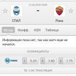 Прогноз на матч СПАЛ-Рома 21.04.2018