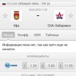Прогноз на матч Уфа-СКА Хабаровск 30.04.2018