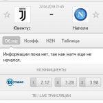 Прогноз на матч Ювентус-Наполи 22.04.2018