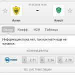 Прогноз на матч Анжи-Ахмат 07.05.2018