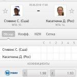 Прогноз на матч Стивенс-Касаткина 05.06.2018