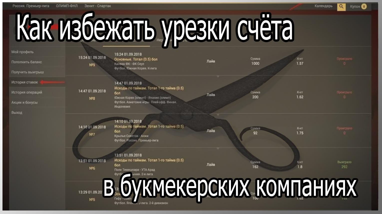 Урезка счета в БК