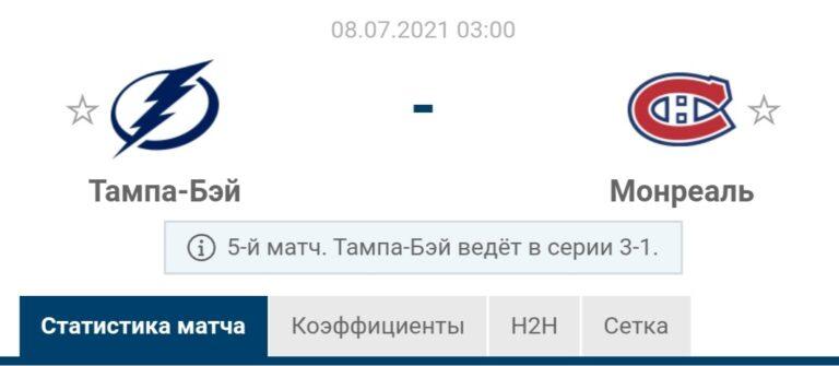 Прогноз на матч Тампа-Бэй - Монреаль